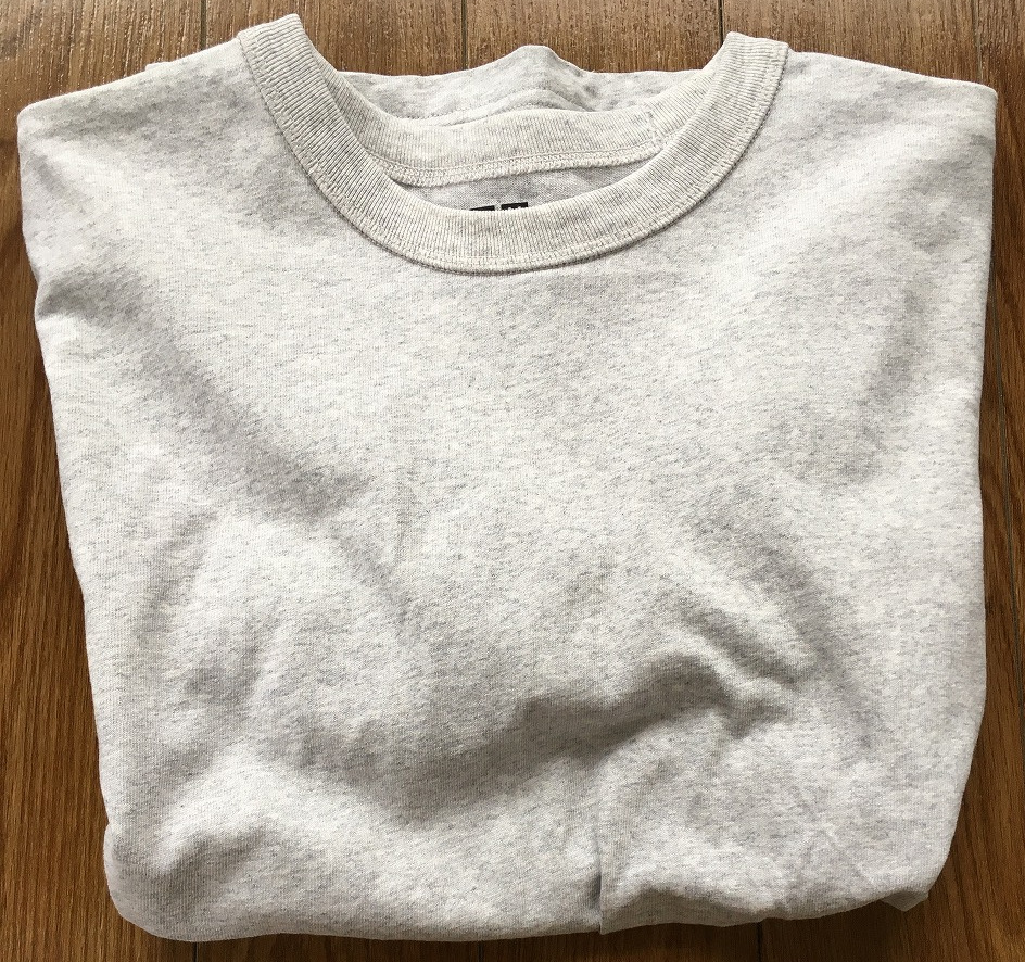 ライトグレーのスーピマコットンTシャツ