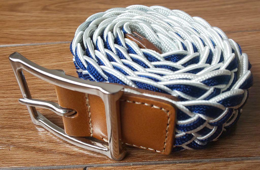 スーツカンパニー カジュアルメッシュベルト 青×白 3,800円(税抜)