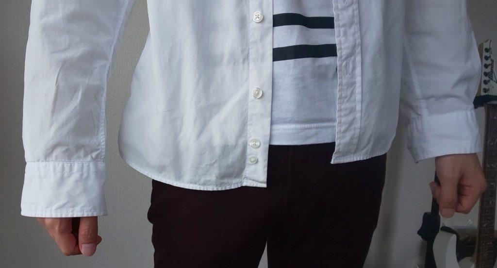 シャツの丈の長さ(前バージョン)