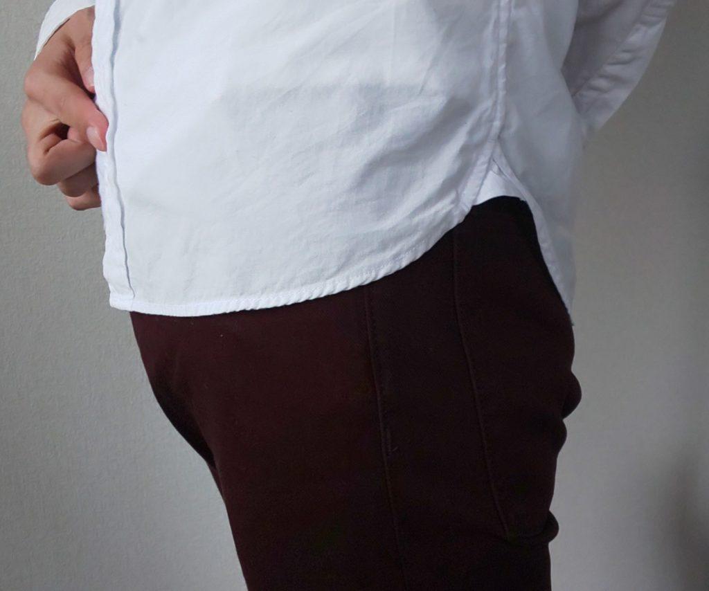 シャツの丈の長さ(横バージョン)