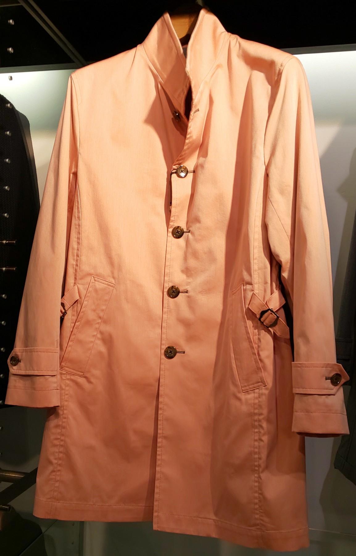 MEN'S BIGI ストレッチ スタンドカラースプリングコート オレンジ 31,900円