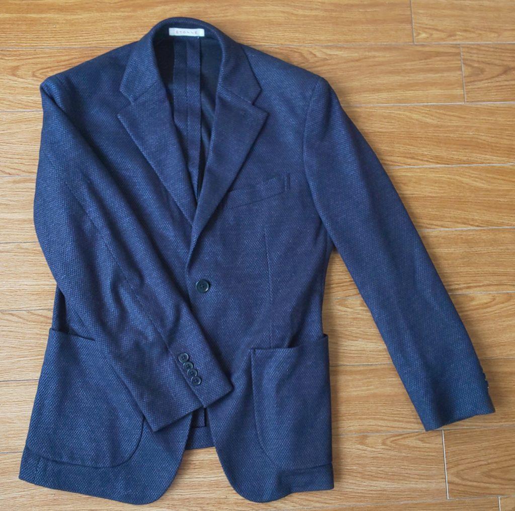 スーツカンパニーのネイビージャケット(JECA コットンリネンポリエステル アーセライズ ジャージ)\21,000