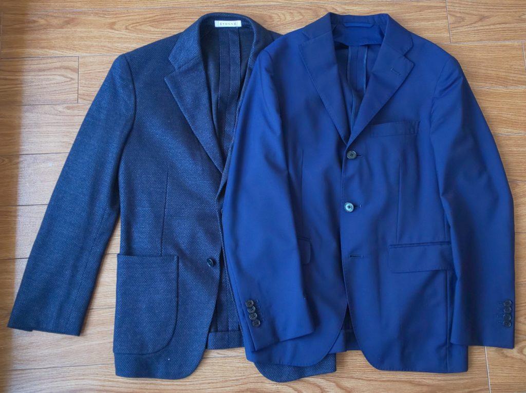 ビジネスジャケットとカジュアルジャケット