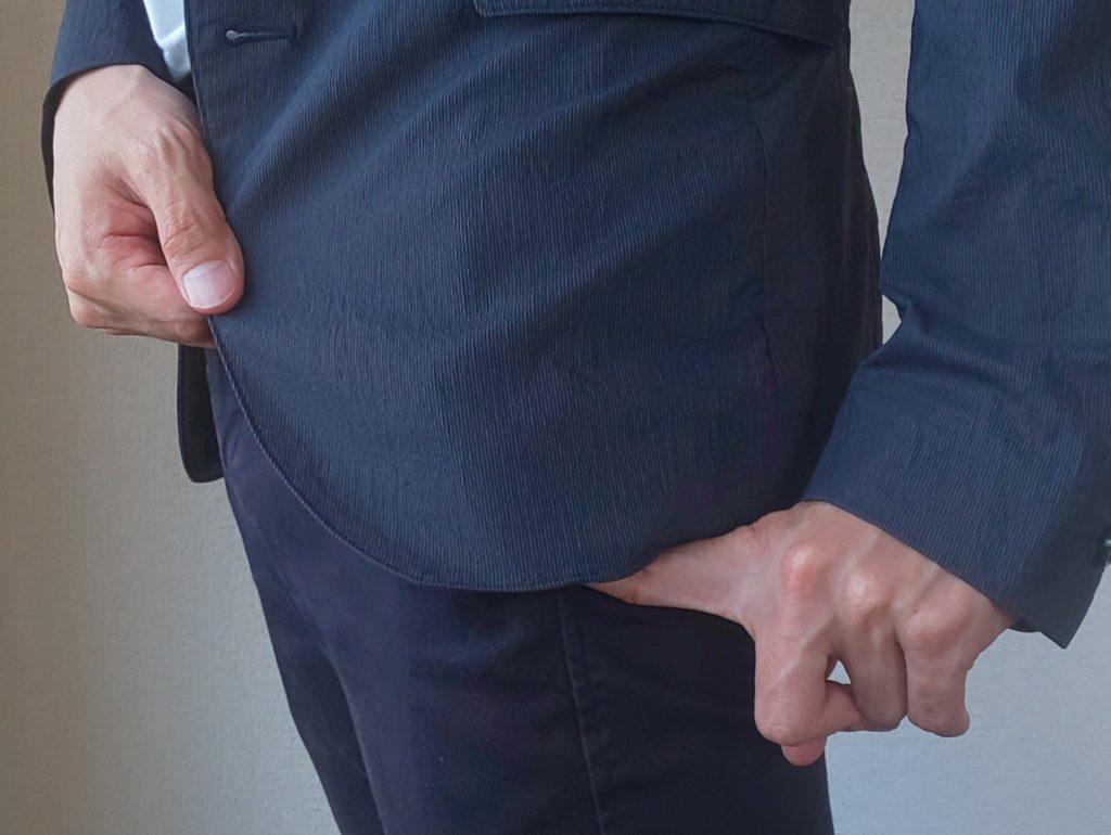 丈の長いジャケット