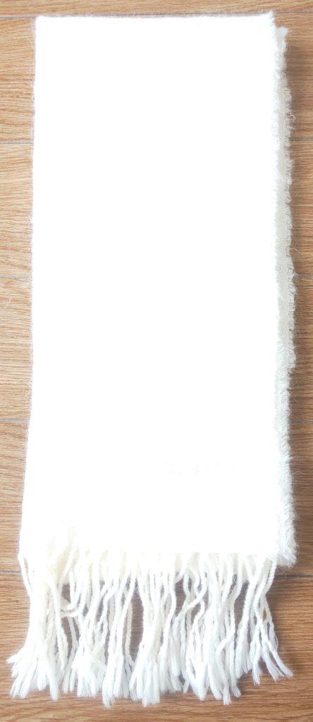 MONSIEUR NICOLE カラーマフラー(ホワイト)