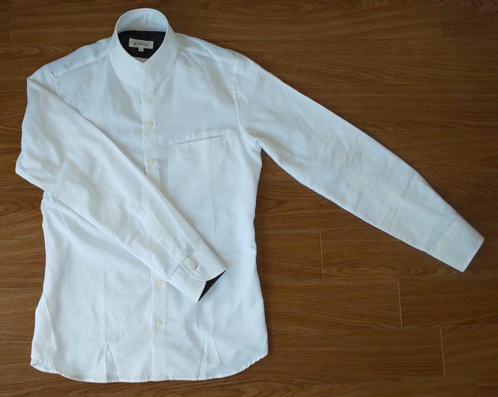 ムッシュニコル(MONSIEUR NICOLE) ロイヤルオックススタンドカラーシャツ