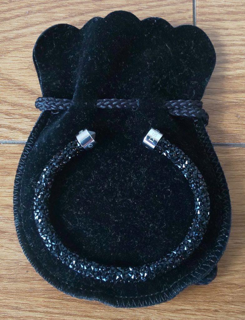 SWAROVSKI Crystaldust Black Crystal Cuff Bangle