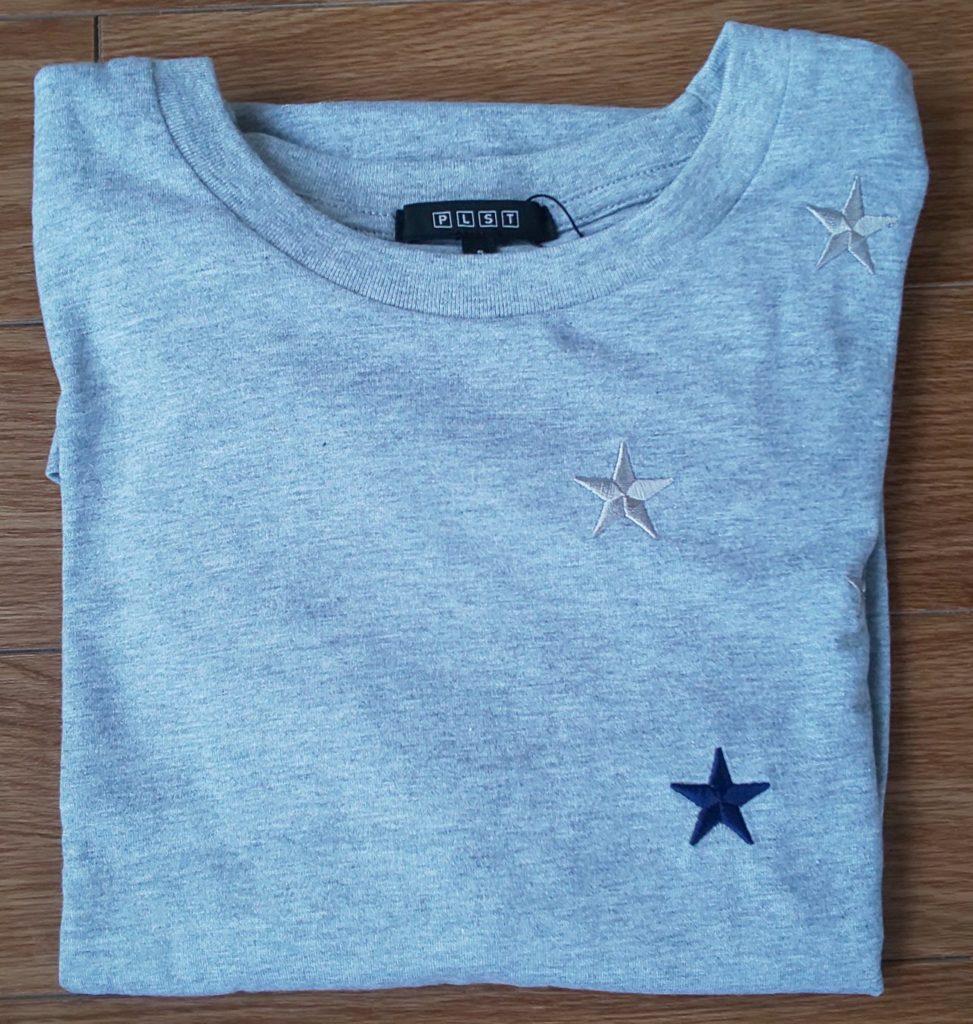 PLST スーピマコットンスタークルーネックTシャツ ミドルグレー/S