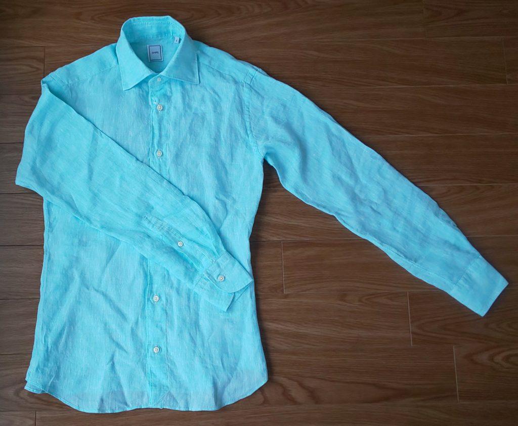 SHIPS SD:【MONTI社製生地】 ウォッシュド リネン ソリッド シャツ ¥15,950