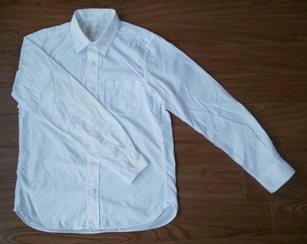 超長綿洗いざらしブロードシャツ 2,990円(税込)