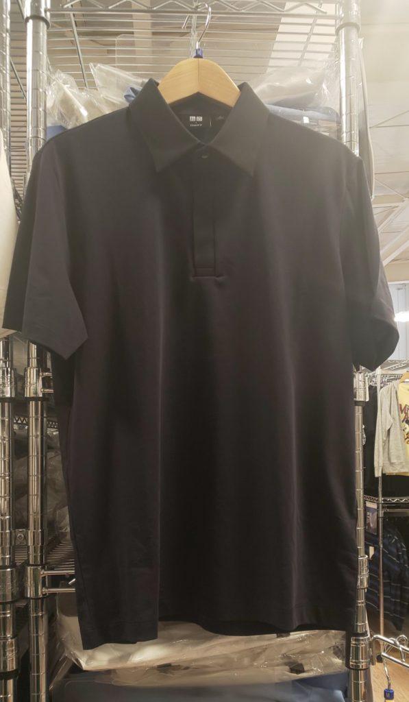 ユニクロ エアリズムジャージ-スリムフィットポロシャツ の写真