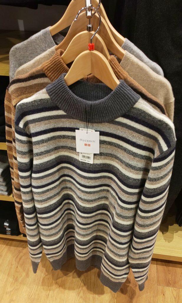 プレミアムラムモックネックセーター(長袖)