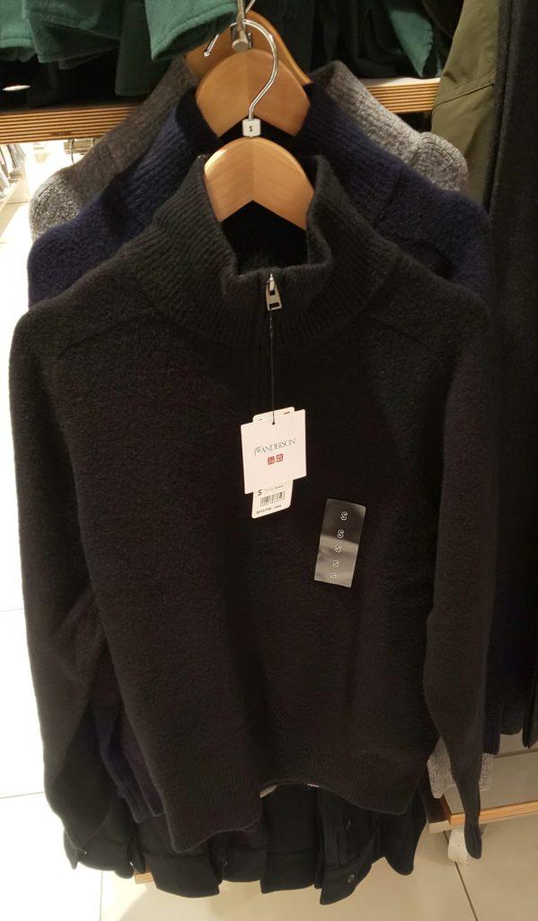 スフレヤーンハーフジップセーター(長袖)ブラック