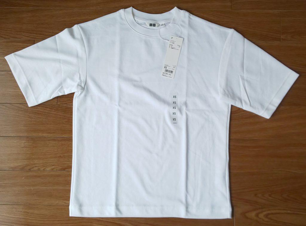 ユニクロ エアリズムコットンオーバーサイズTシャツ(5分袖)ホワイト 1,500円
