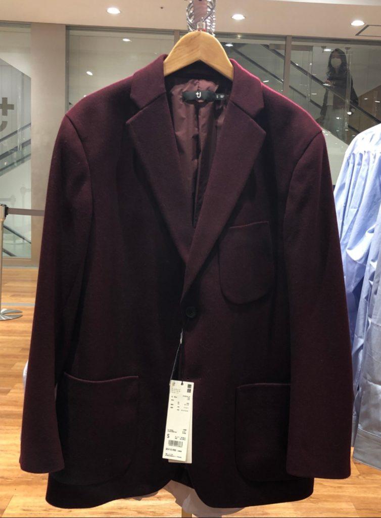 ウールブレンドオーバーサイズジャケット+ ワイン 15,900円(税抜)