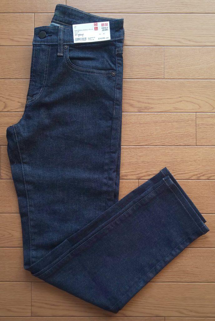 ユニクロ ウルトラストレッチスキニーフィットジーンズ ブルー 3,990円(税抜)
