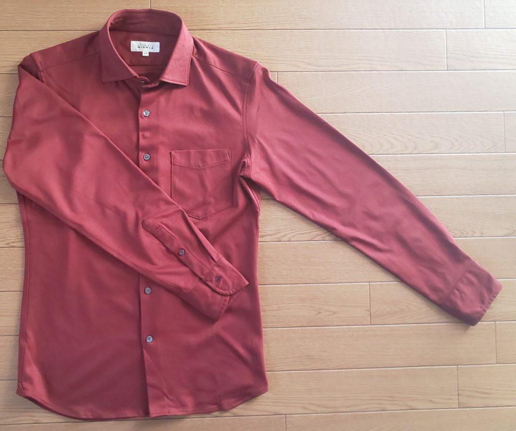 ムッシュニコル ショートセミワイドカラーシャツ オレンジ 15,000円(税抜)