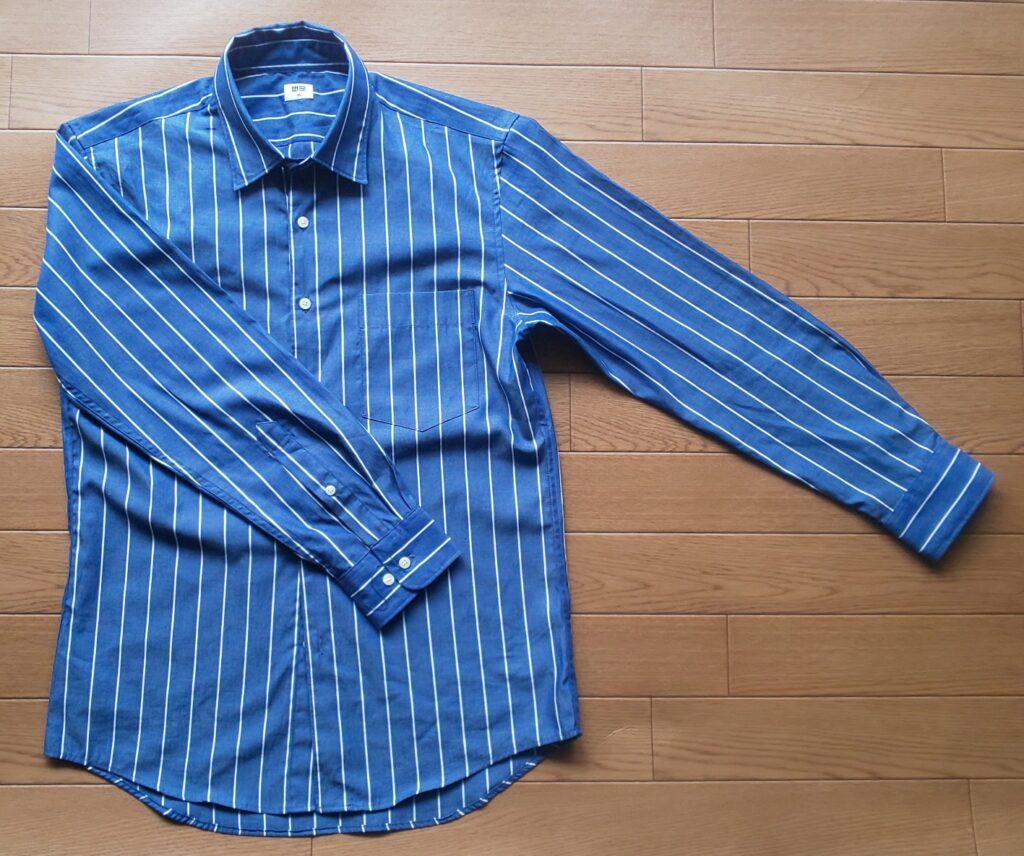 ユニクロ エクストラファインコットンブロード ストライプシャツ(長袖)1,990円(税抜)