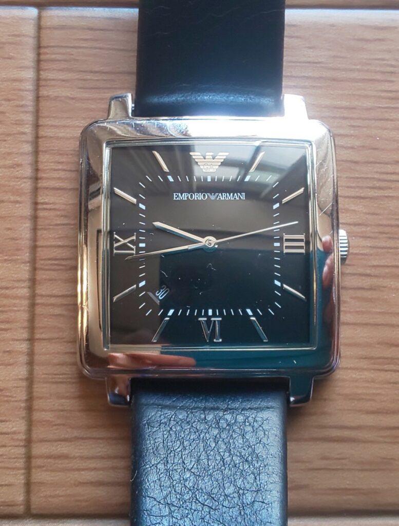 エンペリオアルマーニ メンズ Emporio Armani Mens Dress Quartz Stainless Steel and Leather Casual Watch ColorBlack Model AR11074 28,480円(税込)