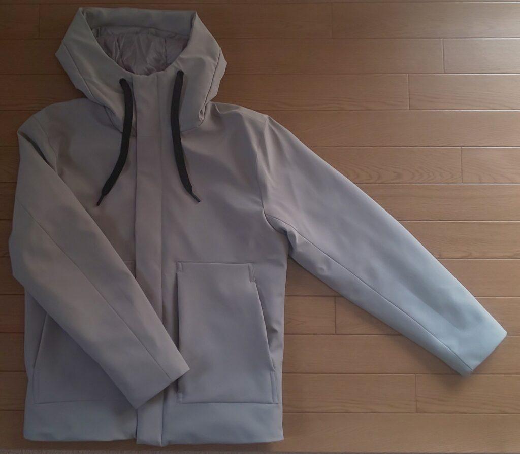 ZARA フーデッド パフジャケット グレー 10,990円(税込)