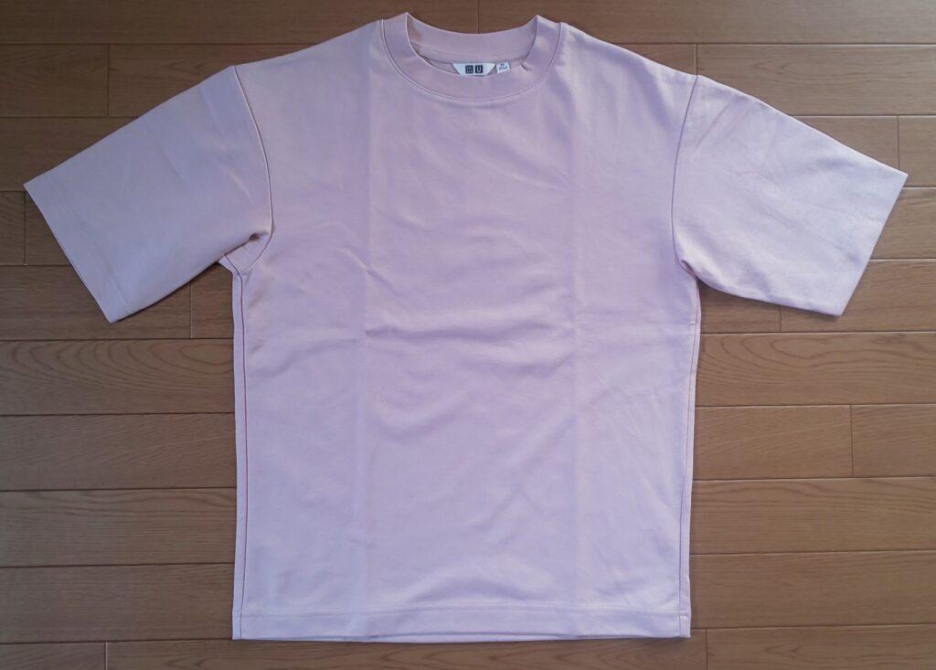 ユニクロ エアリズムコットンオーバーサイズTシャツ(5分袖)ピンク 1,500円(税抜)