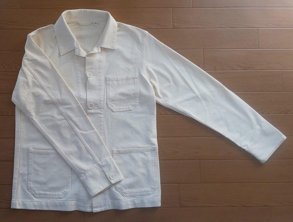 ユニクロ ウォッシュジャージーワークジャケット OFF WHITE 2,990円