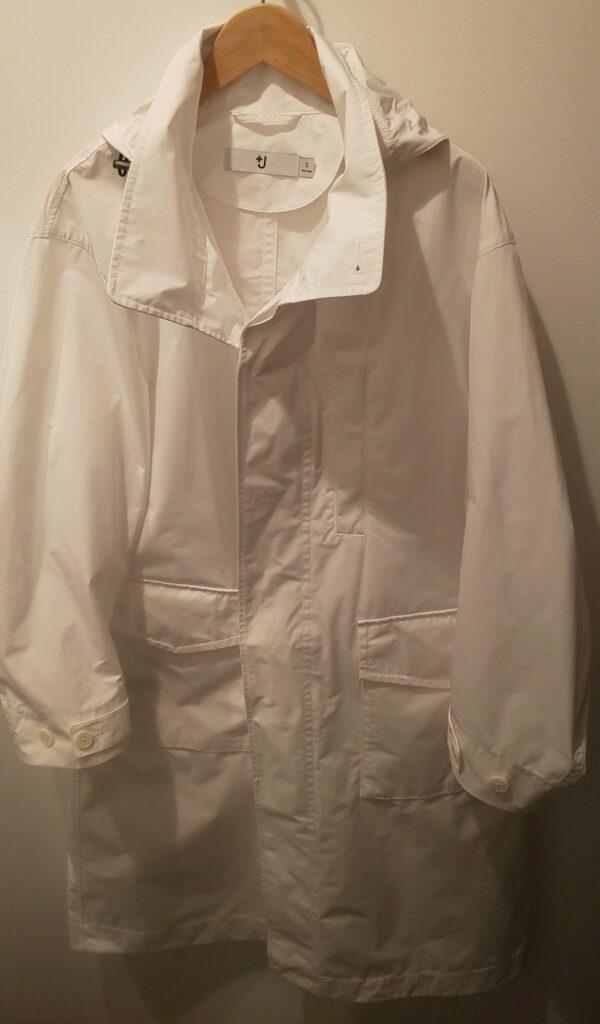 ユニクロ+J オーバーサイズフーデッド ロングコート ホワイト 14,900円