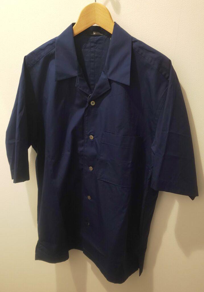 ユニクロ+J スーピマコットンオーバーサイズオープンカラーシャツ(半袖)ネイビー3,990円