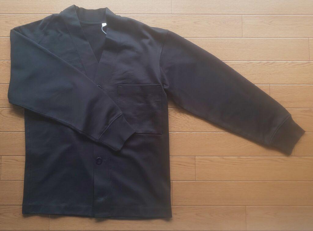 ユニクロU スウェットカーディガン(長袖)(ブラック) 3,990円