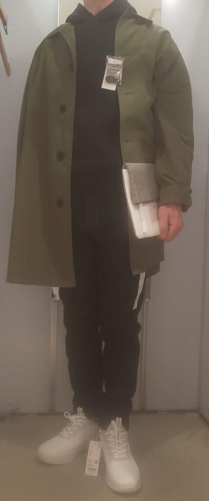 ウルトラストレッチドライスウェットプルパーカ(長袖)ブラック