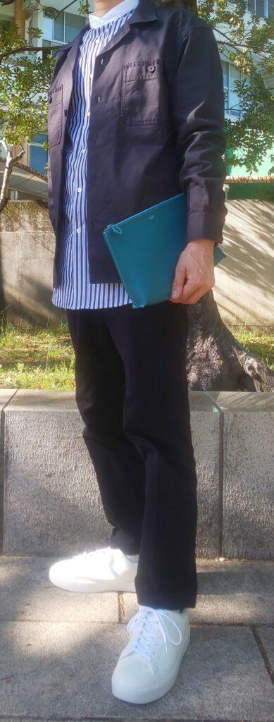 ユニクロ ワークシャツ&+Jスタンドカラーシャツコーデコーデ