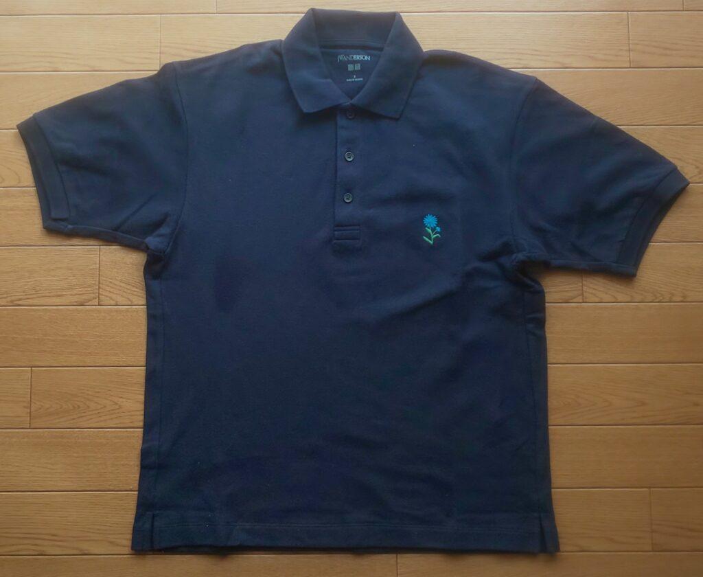 ユニクロ ポロシャツ(半袖)(ネイビー)1,990円