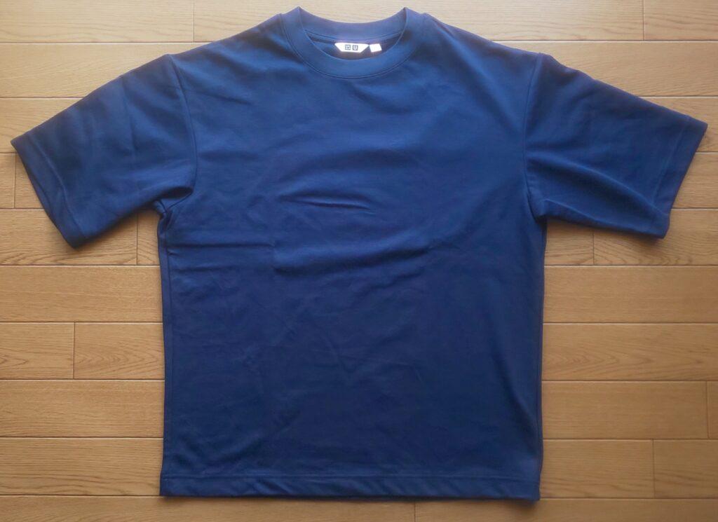 ユニクロ エアリズムコットンオーバーサイズTシャツ(5分袖)ネイビー 1,500円