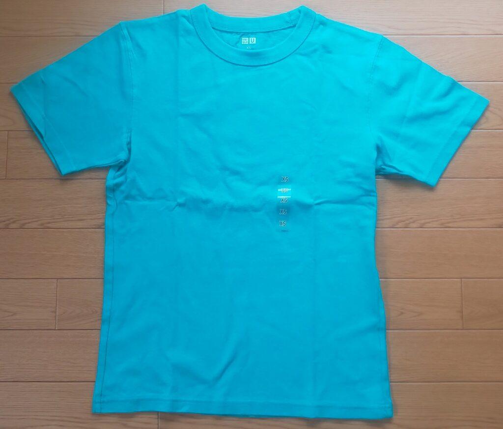 ユニクロU クルーネックT(半袖)ブルー 1,000円(税抜)