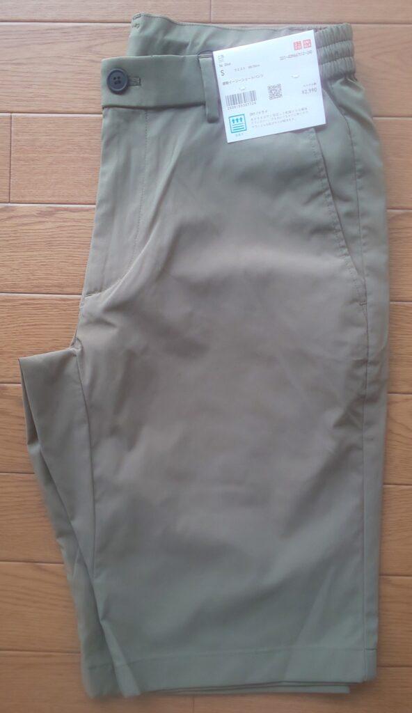 ユニクロ 感動イージーショートパンツ オリーブ 2,990円