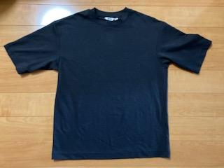 ユニクロ エアリズムコットンオーバーサイズTシャツ(5分袖)ブラック 1,500円