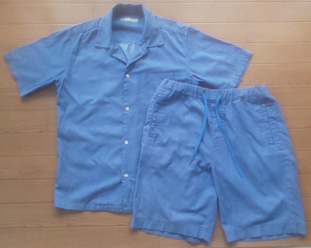 nano・universe 【WEB限定】リカバーブルーオープンカラーシャツ&ショーツセットアップ ブルー (セール価格4,320円)