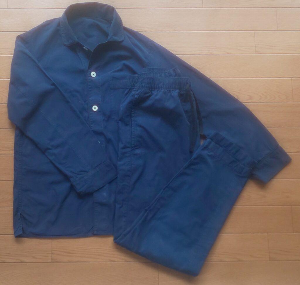 ユニクロ パジャマ(長袖) 商品番号: 404213 ネイビー 2990円