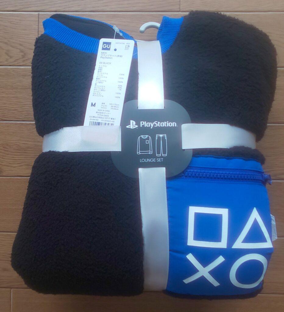 ★)梱包の写真(GU)ラウンジセット(長袖)「PlayStation」 ブラック 2,990円