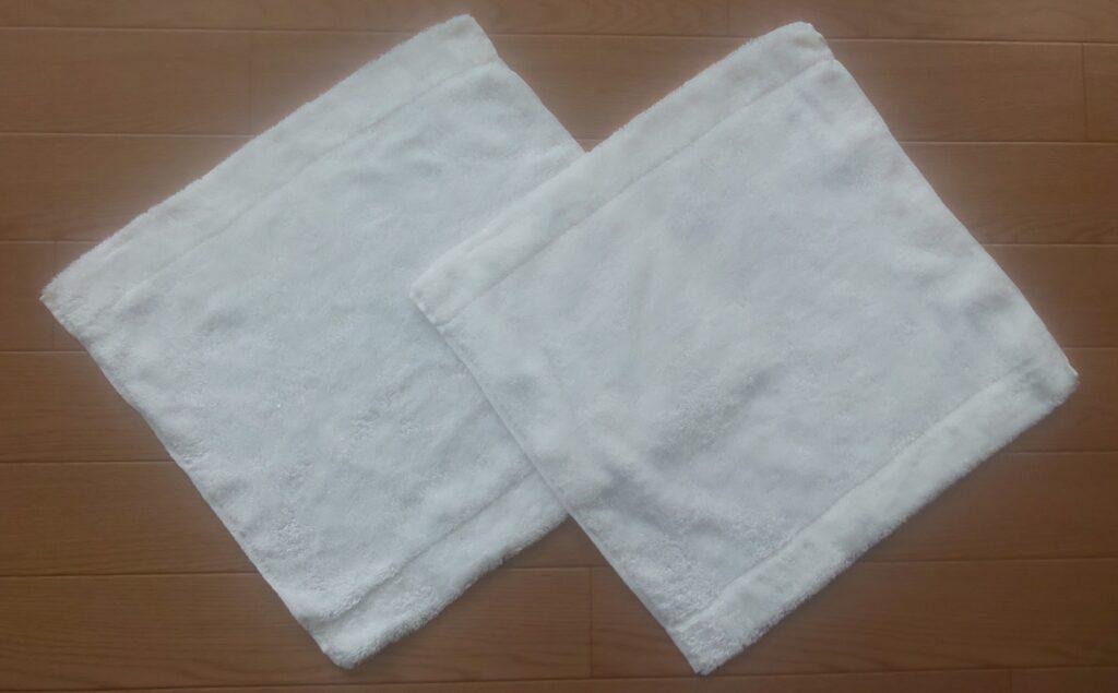 無印良品 ループ付 綿パイルハンドタオル(表面)