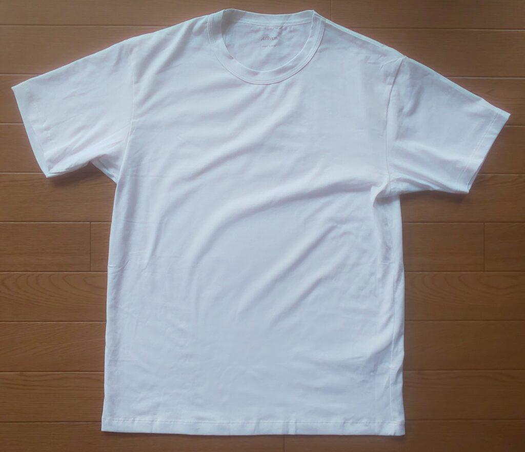 ユニクロ エアリズムコットンクルーネックT(半袖)ホワイト990円