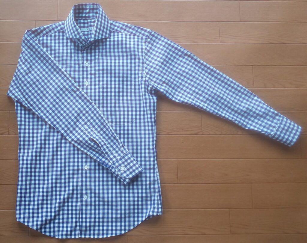 スーツセレクト ギンガムチェックシャツ