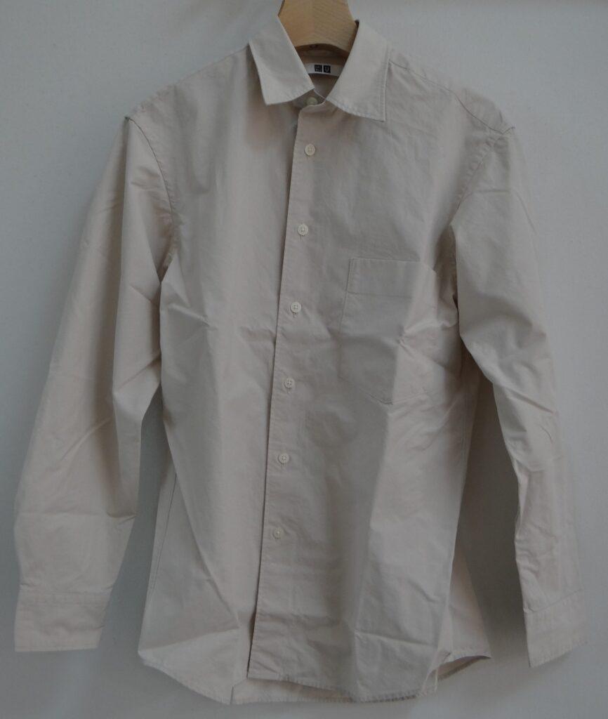 ユニクロU ブロード レギュラーカラーシャツ(長袖)OFF WHITE 2,990円