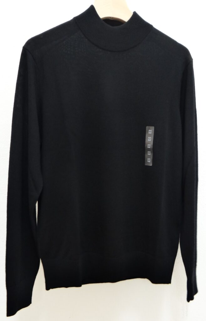 ユニクロ エクストラファインメリノモックネックセーター(長袖)BLACK 2,990